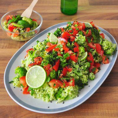Broccoli and Barley Pesto Salad