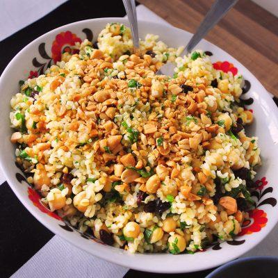 Barley and Chickpea Salad