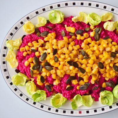 Beetroot Barley and Sweetcorn Salad