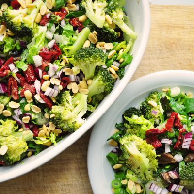 Broccoli and Sun Dried Tomato Salad