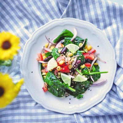 Spinach and Lime Salad