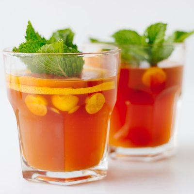 Grapefruit Rooibos Iced Tea