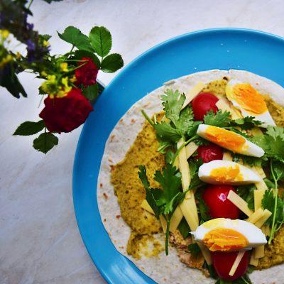 Gouda and Hummus Tortilla Wrap