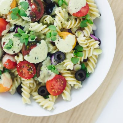 Italian Pasta Salad with Creamy Courgette Dressing