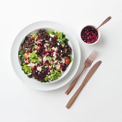 Leafy Pomegranate and Feta Salad