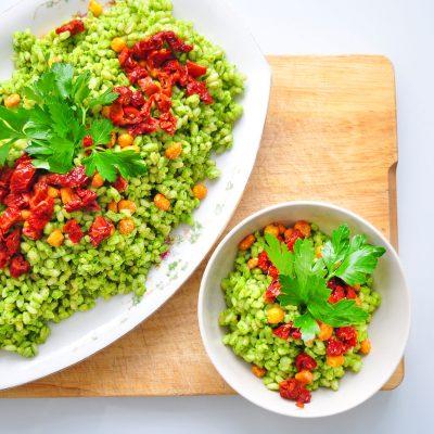 Pesto Bulgur Salad