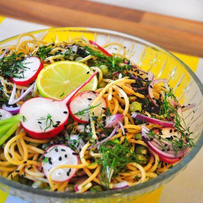 Radish Spaghetti Salad