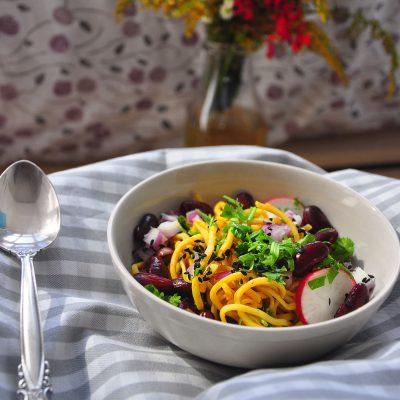 Radish and Bean Noodle Salad