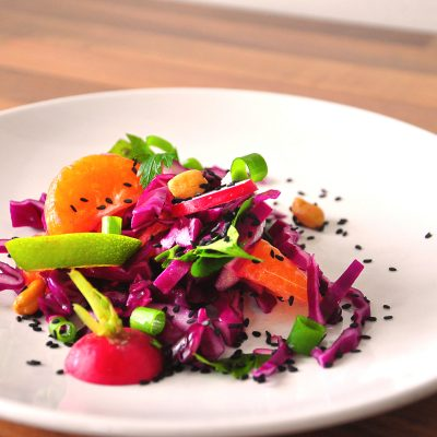 Red Cabbage and Clementine Salad