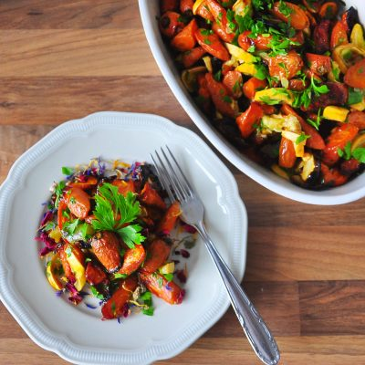 Roasted Courgette and Carrot Salad