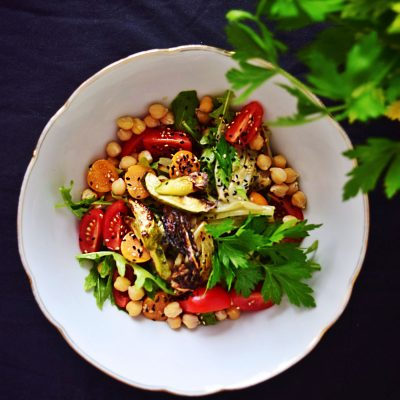 Roasted Vegetable and Chickpea Salad