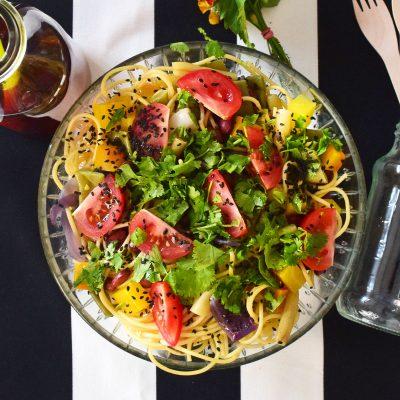 Spaghetti and Vegetable Salad