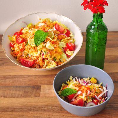 Spicy Red Lentil Salad