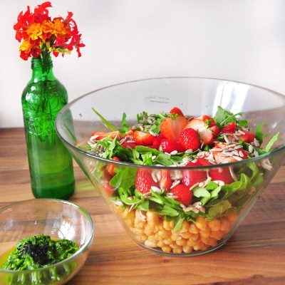 Strawberry and Chickpea Salad