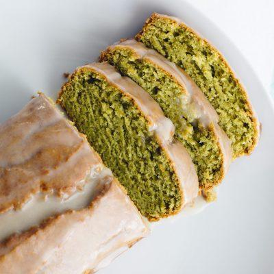 Avocado Bread with Coconut Glaze