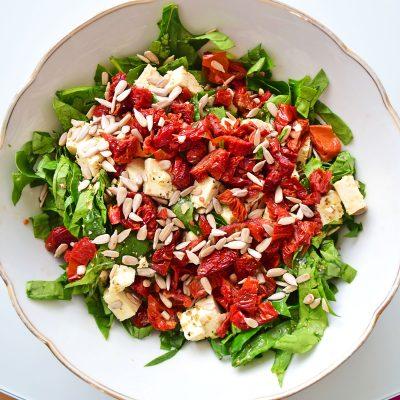 Tofu and Sun Dried Tomato Salad