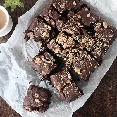 Vegan Brownies with Walnuts