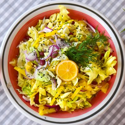 Yellow Beetroot and Orange Salad