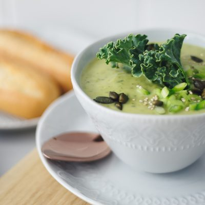Spinach Broccoli and Kale Soup