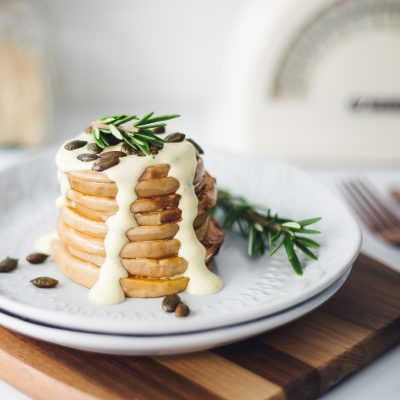 Smashed Butternut Pancakes with Rosemary