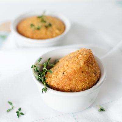 Lemon Thyme Polenta Muffins