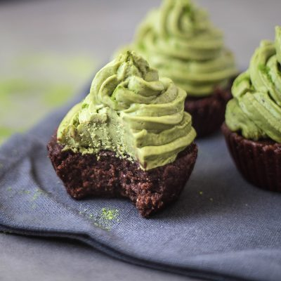 Matcha Frosted Brownies