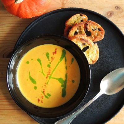 Roasted Hokkaido Pumpkin Soup