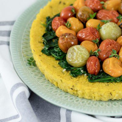 Roasted Tomato Polenta Tart