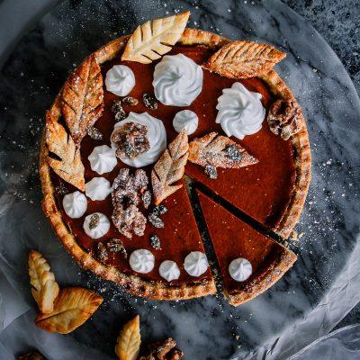 Vegan Pumpkin and Meringue Pie