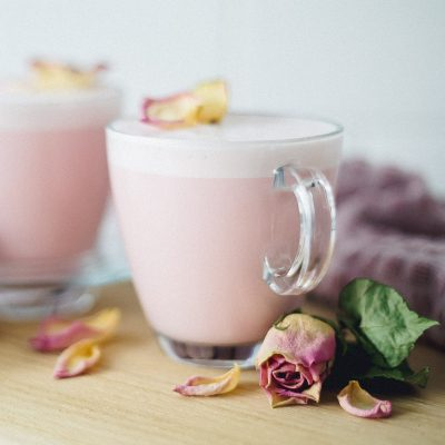 Cardamom Rose Latte