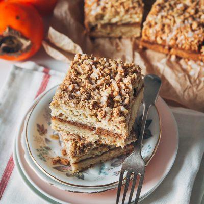 Persimmon Streusel Cake